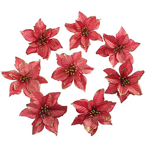 Christmas Flower Arrangements Artificial.20 Poinsettia Christmas Flower Decorations For Garlands Wreaths The Tree All Crafts